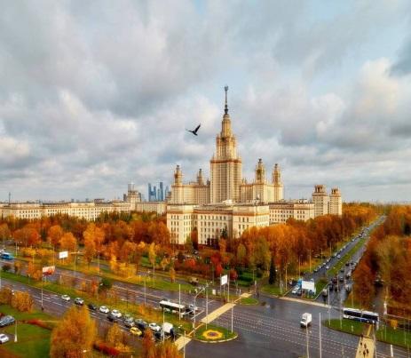 Осенние каникулы в Москве. На поезде