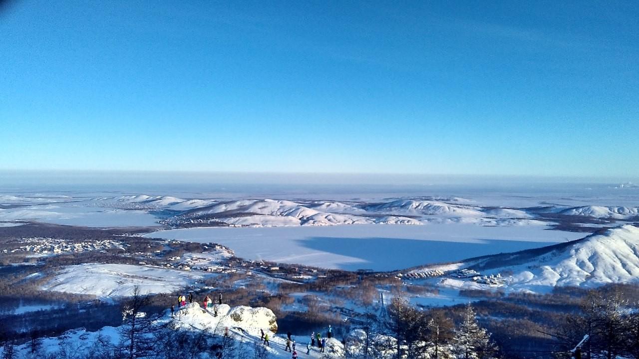 Новый год на озере Банное и в Абзаково